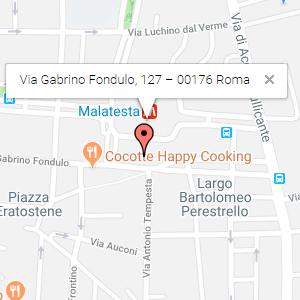 Via Gabrino Fondulo, 127 – 00176 Roma